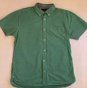 Tommy Hilfiger XL Green Plaid Button Down